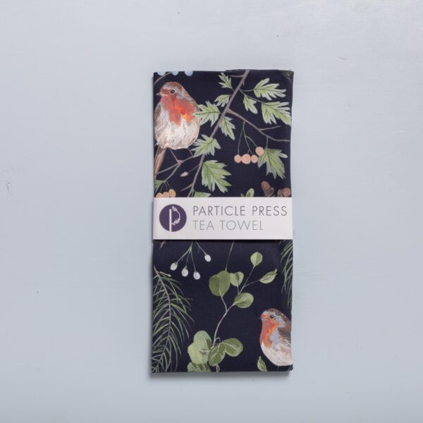 robin tea towel by particle press
