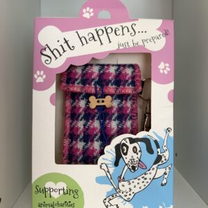 Shit Happens..Just Be Prepared Harris tweed doggie bag dispenser by Bertie Girl