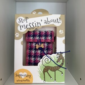 Stop Messin' About Harris tweed doggie bag dispenser by Bertie Girl