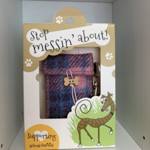 Stop Messin' About - Harris tweed doggie bag dispenser,