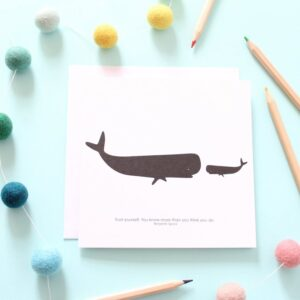 trust yourself whale card