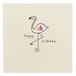 birthday flamingo card by ruth jackson