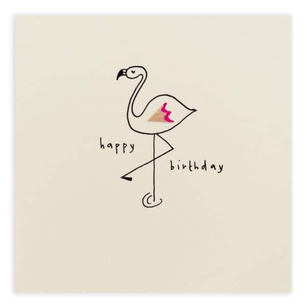 birthday flamingo card by ruth jackson