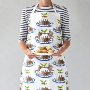 Christmas pudding apron by thornback & peel