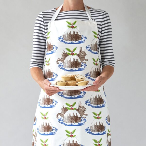 Christmas pudding apron by thornback & peel