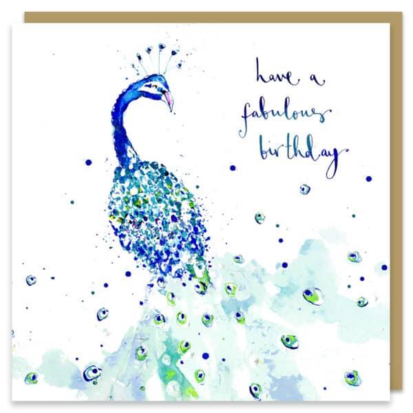 Fabulous Birthday Peacock by louise mulgrew