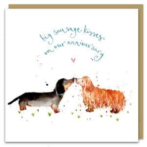 sausage dog anniversary by louise mulgrew