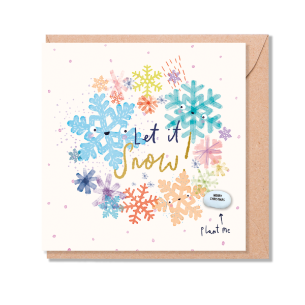 let it snow card by lucy and lolly
