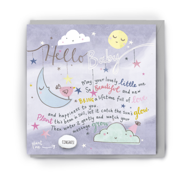 hello baby card by lucy & Lolly