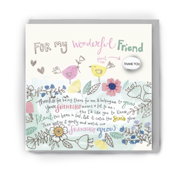 wonderful friend card by lucy and lolly