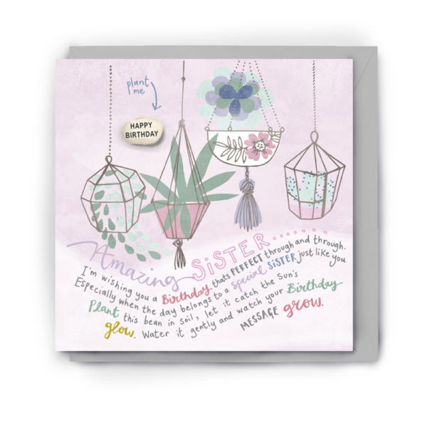 amazing sister card by lucy and lolly