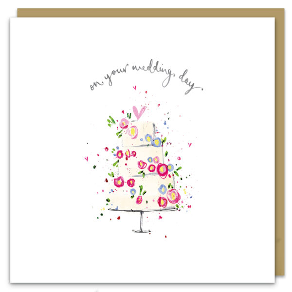 wedding day card by louise mulgrew