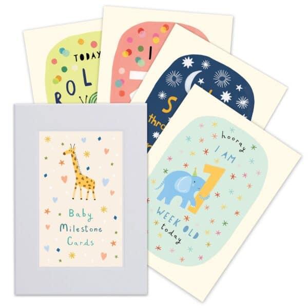 baby milestone cards by james ellis