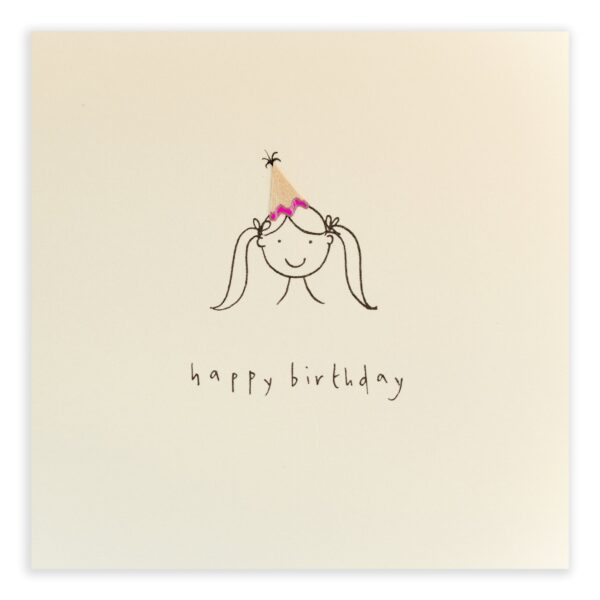 birthday girl card by ruth jackson