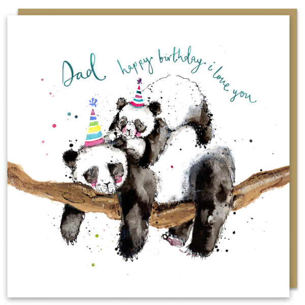 dad pandas card by louise mulgrew