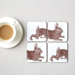 classic rabbit & cabbage coasters by thornback & peel