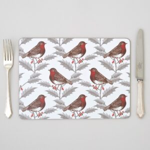 robin & holly placemats by thornback & peel