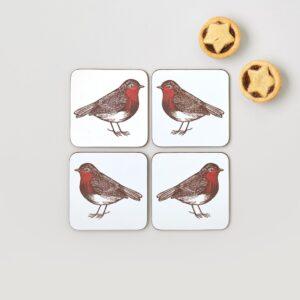 robin & holly coasters by thornback & peel