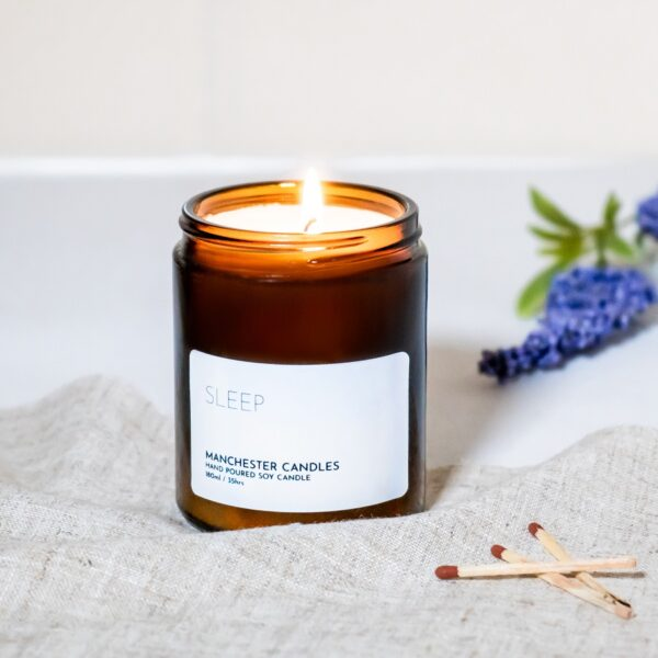sleep aromatherapy candle by Manchester candles
