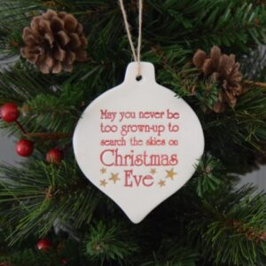 christmas eve ceramic decoration by broadlands pottery