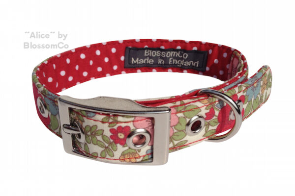 alice dog collar by blossomco