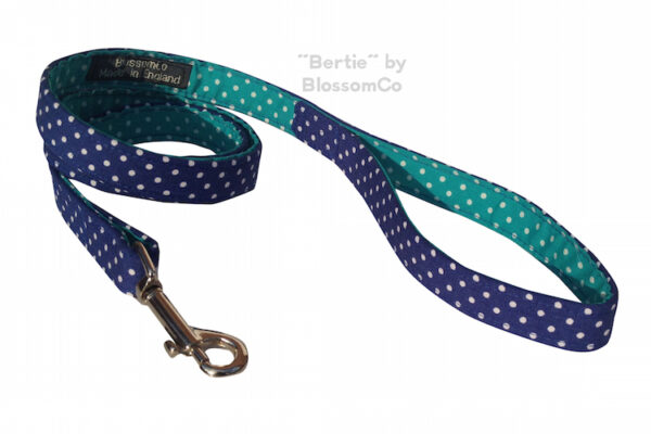 bertie dog lead by blossomco