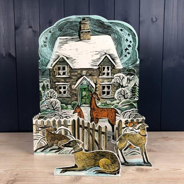 christmas cottage advent calendar by Angela harding