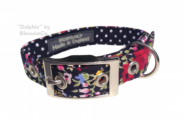 Delphie Dog collar by BlossomCo