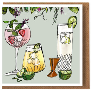 gin and tonic card by katie cardew