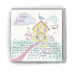 home sweet home card by lucy and lolly