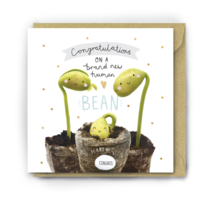 brand new human bean card by lucy and lolly