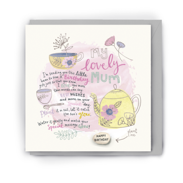 lovely mum card by lucy & lolly