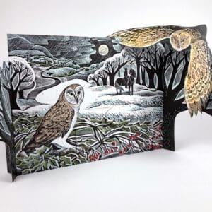 winter owl advent calendar by Angela Harding
