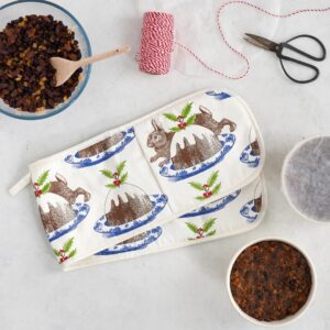 christmas pudding oven gloves by thornback & peel