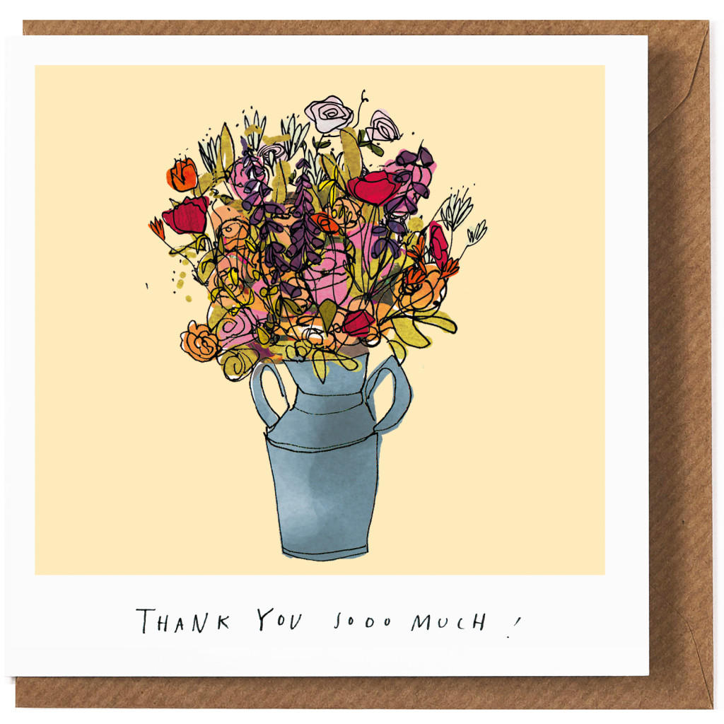 thanks a bunch card by katie cardew