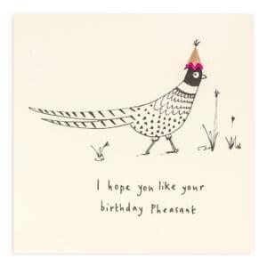 birthday pheasant by ruth jackson