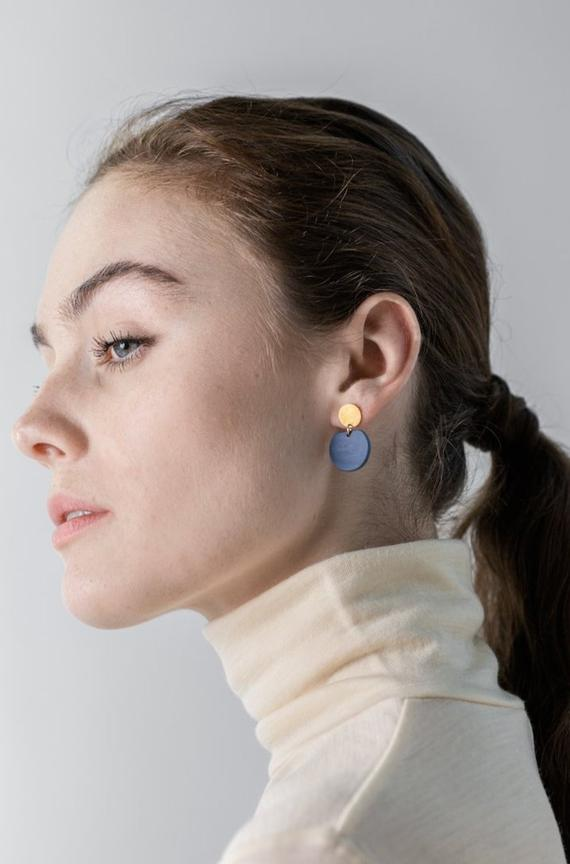 porcelain cobalt eve earrings by one & eight jewellery by