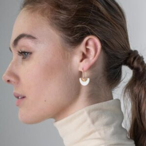 porcelain gold ora earrings by one & eight jewellery