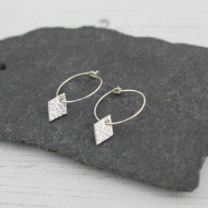 diamond hoops by lucy kemp jewellery