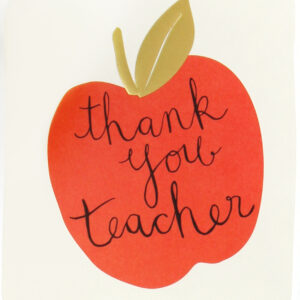 thank you teacher card by caroline gardner