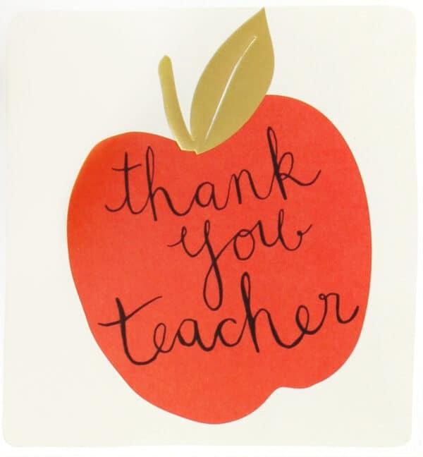 thank you teacher card by caroline gardner