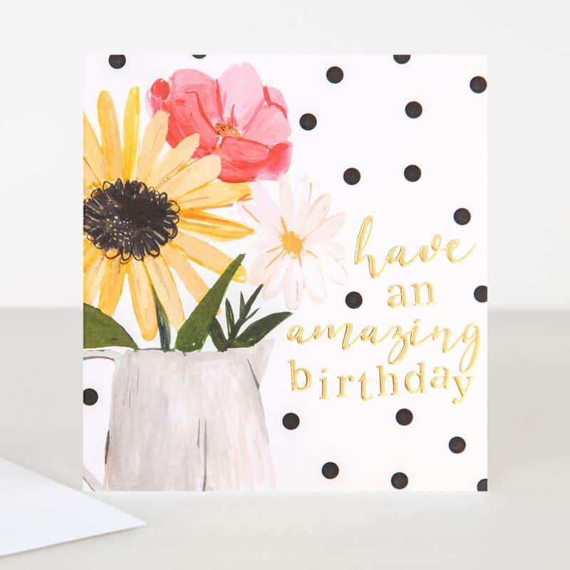 flowers birthday card by caroline gardner