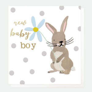 bunny new baby bot card
