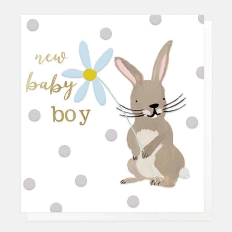 bunny new baby bot card
