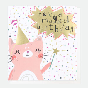 Fairy Cat Birthday Card