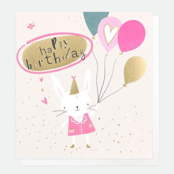 Bunny Birthday Card by Caroline Gardner