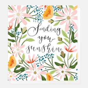 sending you sunshine card by caroline gardner