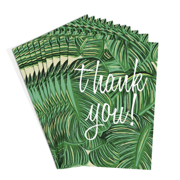 green leaves thank you cards by caroline gardner