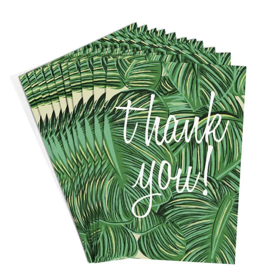 green leaves thank you cards by caroline gardner