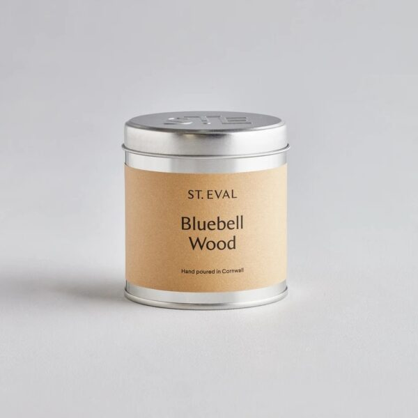 Bluebell wood scented tin candle by st eval